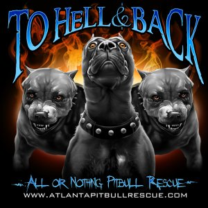 ... Rescue :: To Hell & Back - All Or Nothing Pitbull Rescue T-Shirt