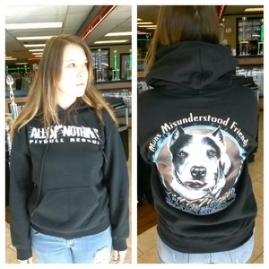 BRAND NEW! PITBULL RESCUE HOODIES WITH CAIN