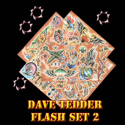 Dave Tedder Tattoo Flash Set 2